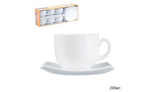 QUADRATO белый Чайный набор 220мл