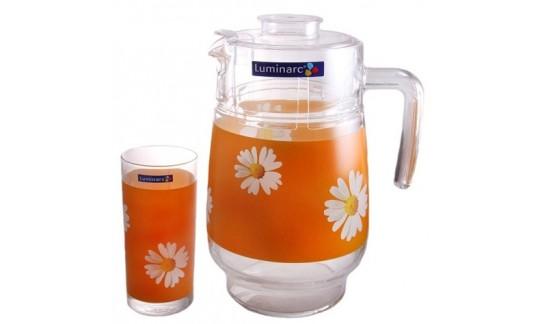 Набор питьевой 7 пред РОМАШКА оранж