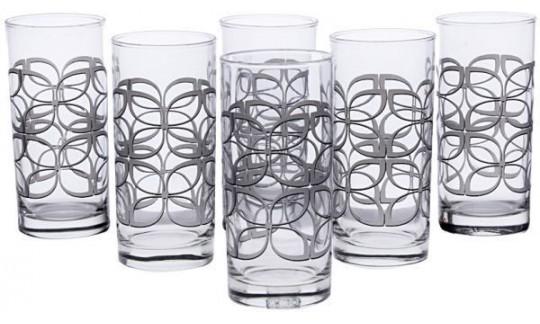 """Набор стаканов """"MAZE SILVER"""" высок 270 мл 6 шт"""