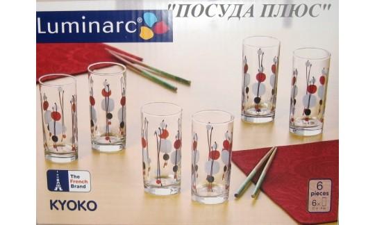 """Набор стаканов """"KYOKO WHITE""""270 мл 6 шт"""