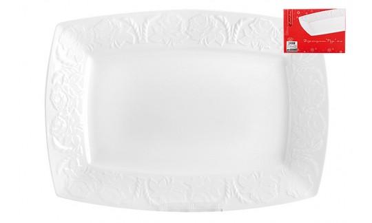 Блюдо 25,5 см прямоугольное Роза